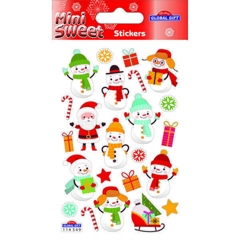 Snowmen - sticker sheet