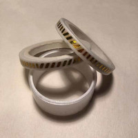 Washi tape - White gold foiled (0.5cm x 5m) #3