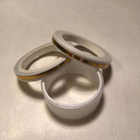 Washi tape - White gold foiled (0.5cm x 5m) #4