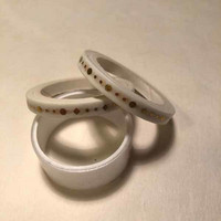 Washi tape - White gold foiled (0.5cm x 5m) #5