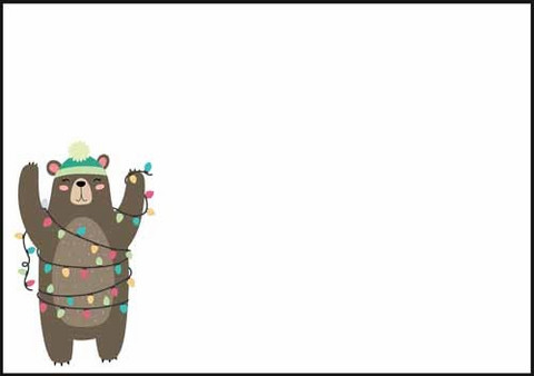 Christmas bear - envelope (C6) #1