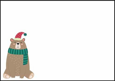 Christmas bear - envelope (C6) #2