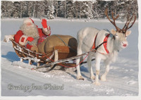 Santa and funny reindeer