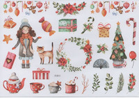 Christmas - sticker sheet #3 (one big sheet, needs to cut)