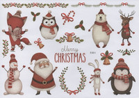 Christmas - sticker sheet #4 (one big sheet, needs to cut)