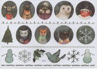 Christmas - sticker sheet #6 (one big sheet, needs to cut)