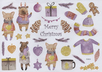 Christmas - sticker sheet #10 (one big sheet, needs to cut)