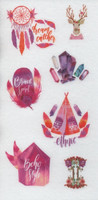 Boho - sticker sheet (10x15cm) #6