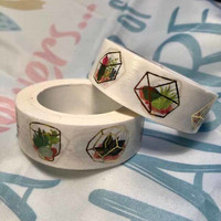 Washi tape - Foiled succulents (1.5cm x 10m)