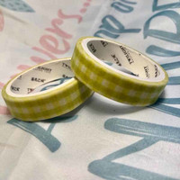 Washi tape - Yellow-green (0.9cm x 3m) #3