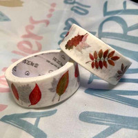 Washi tape  Colourful leaves (1.5cm x 5m) #1
