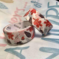 Washi tape  Colourful leaves (1.5cm x 5m) #2