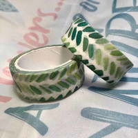 Washi tape - Green (1.5cm x 5m)