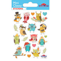 Mini sticker sheet - Owls