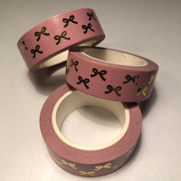 Washi tape - Foiled bows (1.5cm x 10m) #4