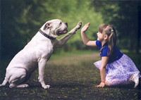 Little kids and their big dogs #1