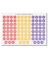 Sinikara Stationery - Big Bright Date Dots
