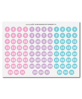 Sinikara Stationery - Big Pastel Date Dots