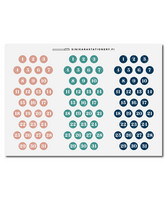 Sinikara Stationery - Small Muted Date Dots