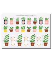 Sinikara Stationery - Ruukkukasvit