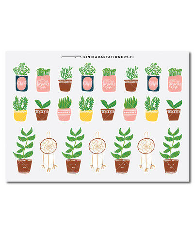Sinikara Stationery - Potted Plants