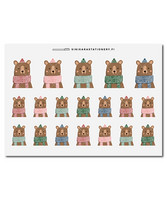 Sinikara Stationery - Bears
