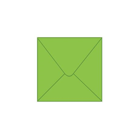 Solid color square envelope 14.4x14.4cm - light green