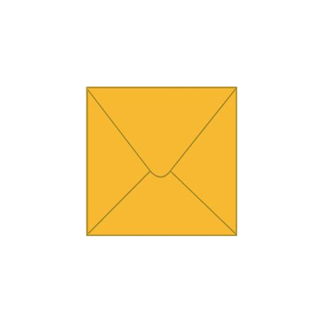 Solid color square envelope 14.4x14.4cm - dark yellow