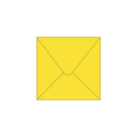 Solid color square envelope 14.4x14.4cm - yellow