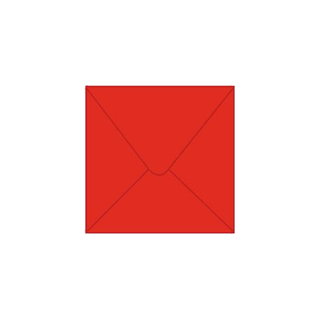 Solid color square envelope 14.4x14.4cm - red