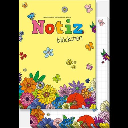Kukat -muistilehtiö (A6, 50 sivua)