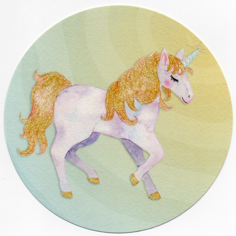 Round card - Unicorn