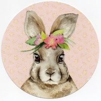 Round card - Rabbit