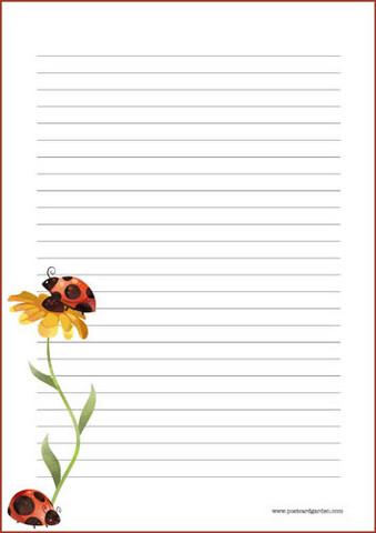 Ladybug - writing papers (A5, 10s)