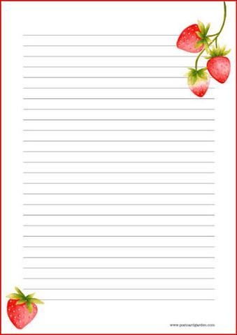 Mansikka - kirjepaperit (A4, 10s)
