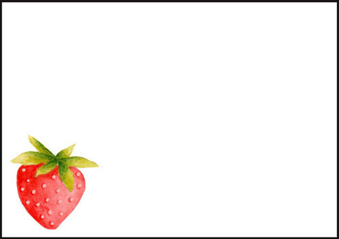 Strawberry - envelope (C6)