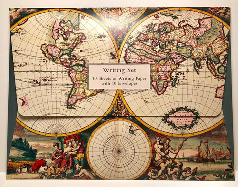 Four Hemisphere World Map - letter set (10s+10e)