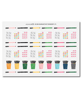 Sinikara Stationery -Planner goodies Deco Sheet