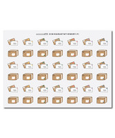 Sinikara Stationery - Envelopes and Parcels Deco Sheet