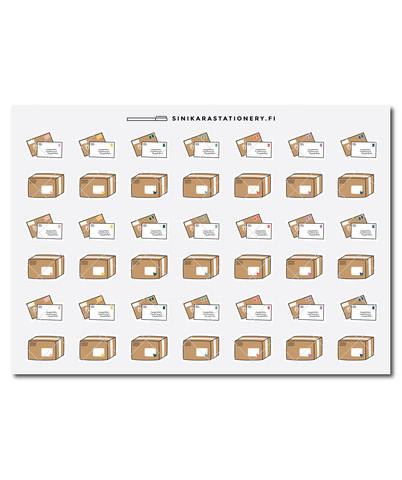 Sinikara Stationery - Kirjeet ja paketit -decotarrat