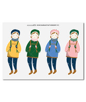 Sinikara Stationery - Anorak girls (big) Deco Sheet