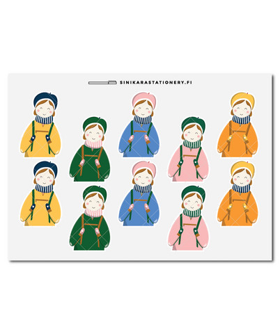 Sinikara Stationery - Anorak girls (half) Deco Sheet