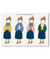Sinikara Stationery - Sweater girls (big) Deco Sheet