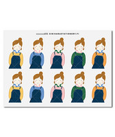 Sinikara Stationery - Pinafore girls (half) Deco Sheet