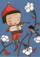 Christmas card - Bullfinch