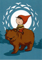 Christmas card - Bear