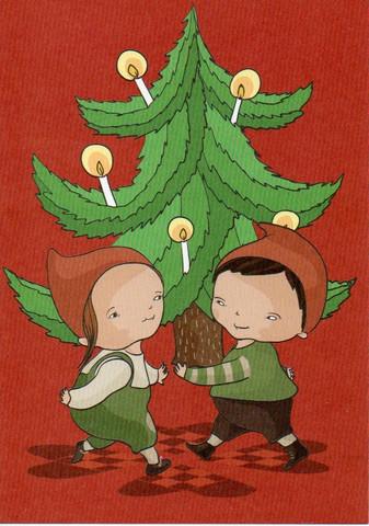 Joulukortti - Joulukuusi