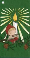Joulupakettikortti - Kynttilä