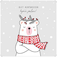 Square Christmas card - You are on my mind (14x14cm)