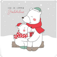 Square Christmas card - Big and warm Christmas hug (14x14cm)